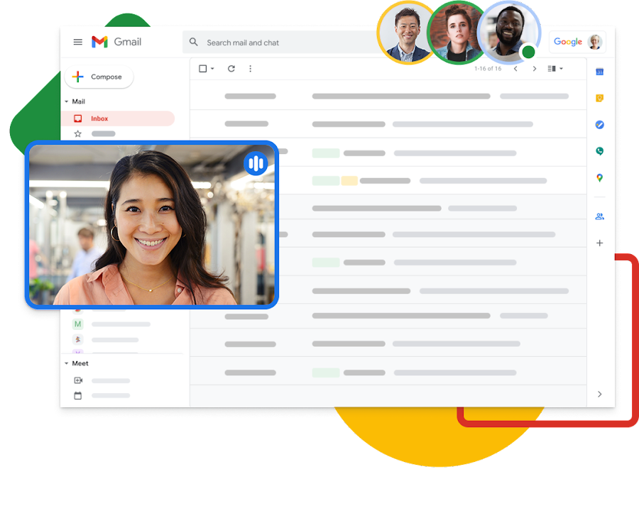 Gmail から Google Meet で直接ビデオ会議に参加