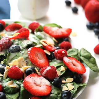 Three Berry Salad with Poppy Seed Dressing