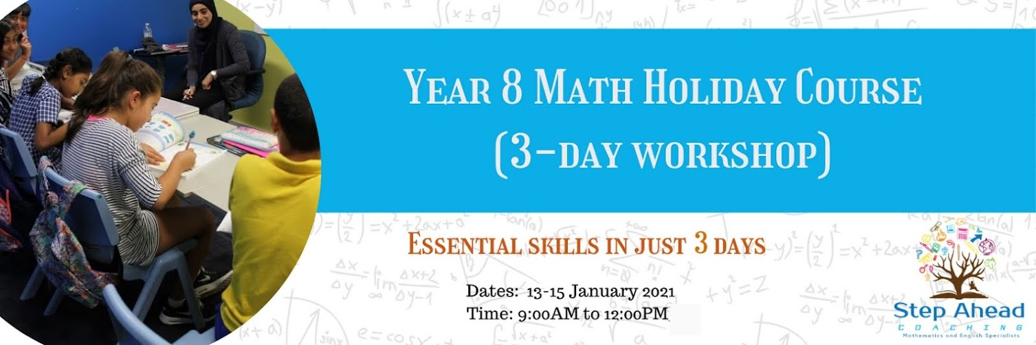 Year 8 Math Holiday Course (3-day workshop)