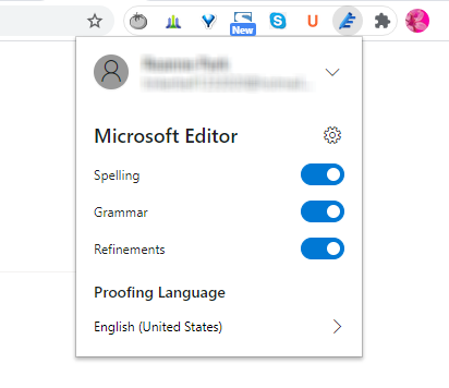 Microsoft Editor browser extension (add-on)