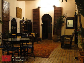Photo: inside the riad where we stayed in Meknes (Riad Zahra)