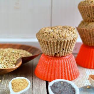 Buckwheat-Oat Bran-Zucchini Muffins.