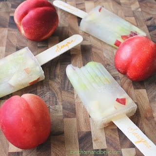 White Peach Sangria Popsicles