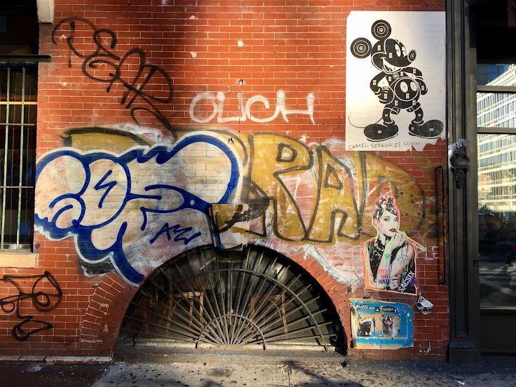 The street art opposite the CBGB mural.