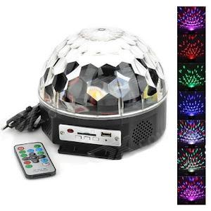 Glob Disco Led Bluetooth cu telecomanda si Redare Audio MP3 + Stick cadou