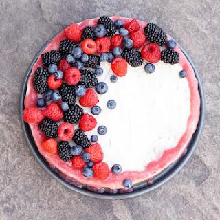 Rhubarb Cashew Ice Cream Cake.