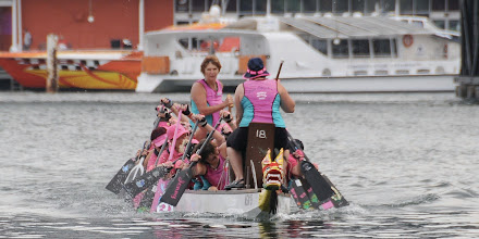 Photo: Dragons Abreast Penrith with Merimbula and Camden Haven at Darling Harbour, CNY 2010