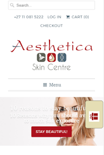Aesthetica Skin Centre- screenshot thumbnail