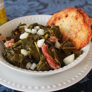Southern-Style Collards Green with Ham Hocks.