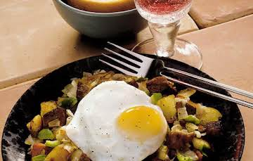 Steak and eggs hash, my version