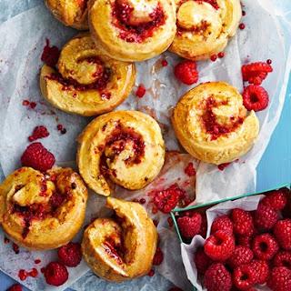 Raspberry, Polenta and Pink Peppercorn Scrolls Recipe