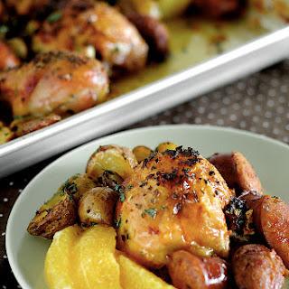 Spanish Chicken with Chorizo and Potatoes.