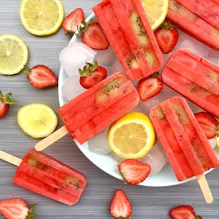 Strawberry Lemon Popsicle.