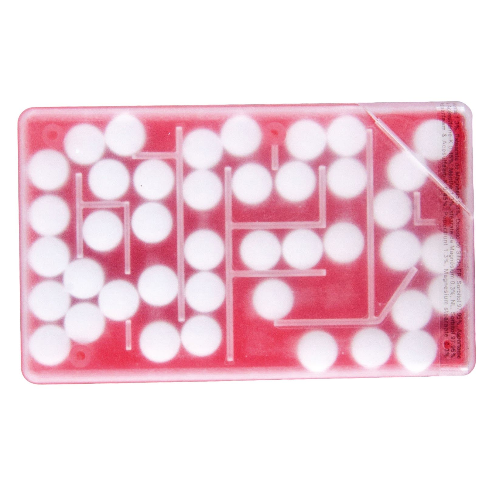 Puzzle Mints in a Credit Card Dispenser - Red