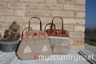 Photo: heart house bags, cartamodello disponibile per info  chiara@mycountrynest.org