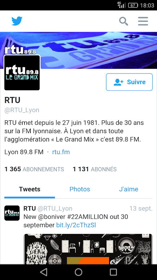 RTU - Le grand mix – Capture d'écran