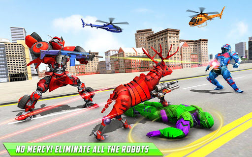 Deer Robot Car Game u2013 Robot Transforming Games apktram screenshots 14