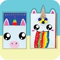 How To Make DIY Notebook - Kawaii & Unicorn Ideas icon