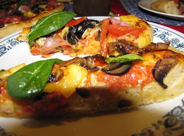 *NOTE: After the pizza is cooked add Campari tomatoes sliced thin, chopped basil, and...