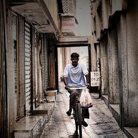 Morning Ride by Jhim Abucayon - People Street & Candids ( bike, street, people )