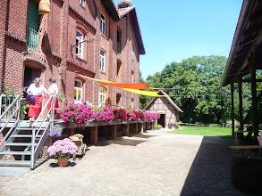 Photo: Offene Mühle am 21. Juli 2013 mit Holzschnitzer
