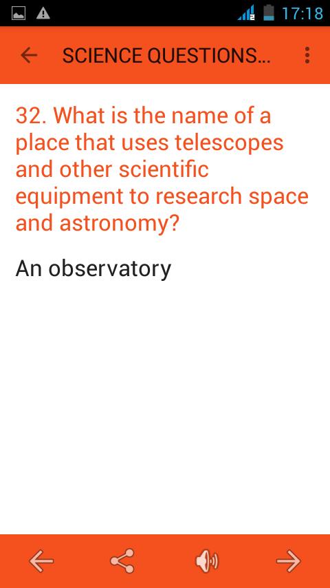 Science Questions Answers- screenshot