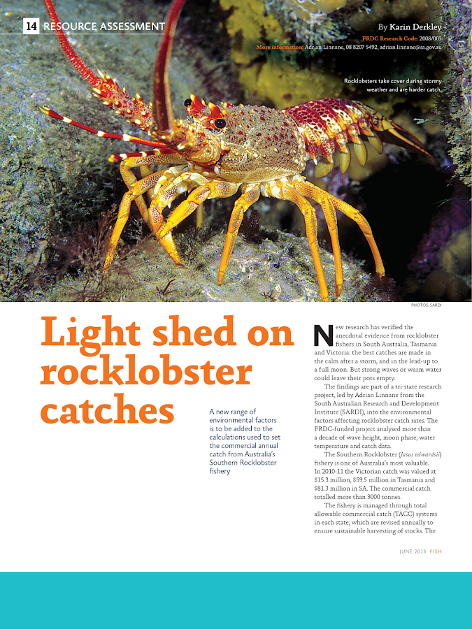 FRDC FISH Magazine- screenshot