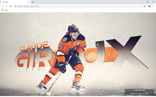 NHL Philadelphia Flyers New Tab Theme