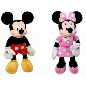 Set jucarii Mickey Mouse + Minnie Mouse 30 cm