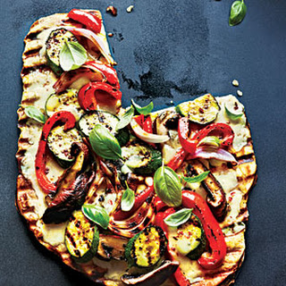 Grilled Vegetable and Fontina Pizza.