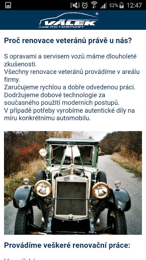 Válek Autosport- screenshot