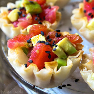 Tuna Avocado Sushi Cups.
