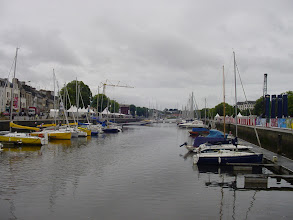Photo: Tuesday brings us back to the southern coast, starting in the town of Vannes, starting at Place Gambetta. We look on Le Port, a canalized river leading out to the Gulf of Morbihan ('little sea').