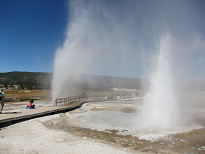Photo: Both geyser going off at once