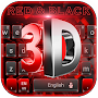 3D Cool Red and Black Keyboard