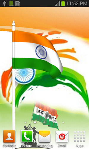 India Flag Flying Wallpaper Android App Screenshot