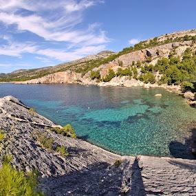 Zarache by Jaksa Kuzmicic - Landscapes Waterscapes ( bay, croatia, hvar, island )