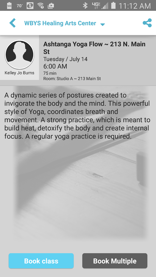 Whole Body Yoga Studio LLC- screenshot