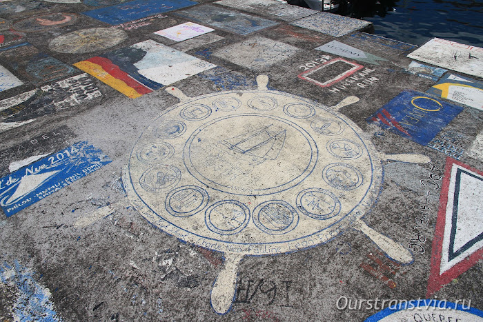 Horta - picters in the ferry port, Faial, Azores
