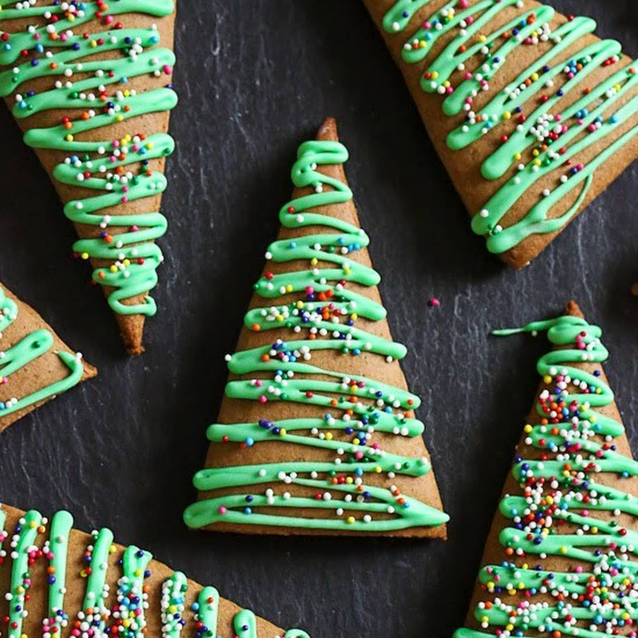 Gingerbread Christmas Tree Cookies