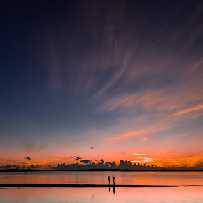 You & Me by Rodel Diaz - Landscapes Sunsets & Sunrises