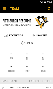 Pittsburgh Penguins Mobile- screenshot thumbnail