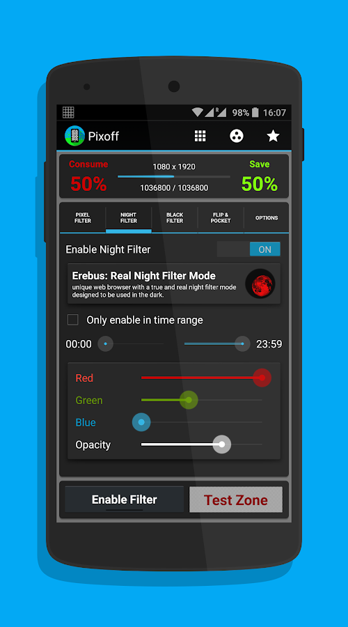 Pixoff: Battery Saver- screenshot