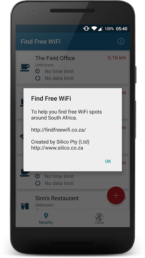 FindFreeWiFi- screenshot