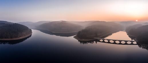 Photo: Ein #See , ein paar #Berge , etwas #Nebel und ein #sonnenuntergang sind die richtige Mischung für meinen kleinen #Quadkopter :-) Hier an der #Versetalsperre bei #Lüdenscheid im #Sauerland  - A #lake , some #hills , a little #mist and a #sunset . The right mixture for my little #drone :-) This is the Verse dam near Luedenscheid in the Sauerland region in western #Germany  - #DJI #Phantom2 #Visionplus #aerialphotography #Luftbilder #water #reservoir #Fog #quadcopter #MärkischerKreis #KlamerBrücke #Panorama