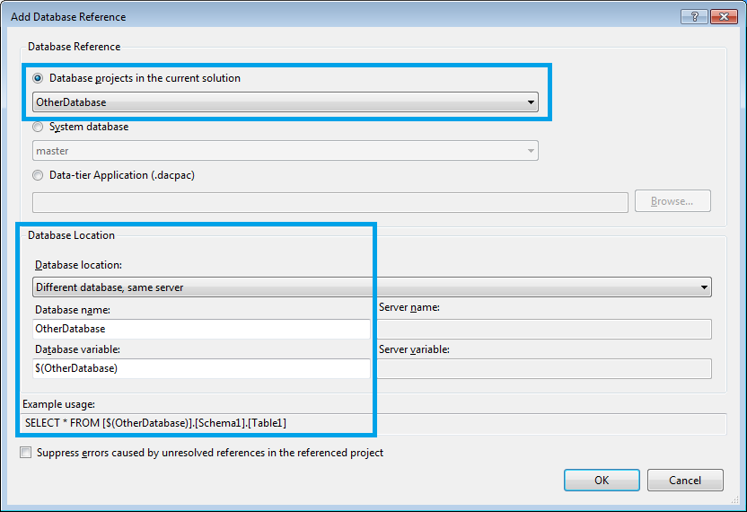Adding Database Reference