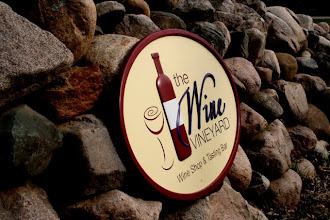 """Photo: Carved Sign Wisconsin, """"Wine Vineyard"""", . See more wood carved signs @ at www.nicecarvings.com"""