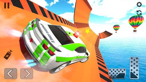 Ambulance Car Stunts: Mega Ramp Stunt Car Games screenshots 2