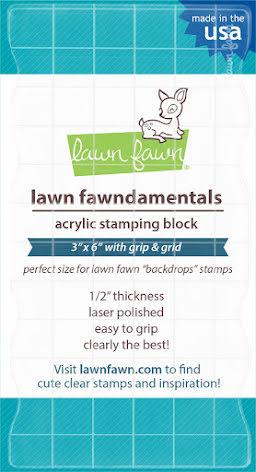 Lawn Fawn 3X6 Acrylic Stamping Block W/Grid