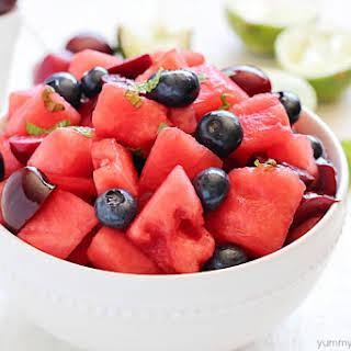 Watermelon Fruit Salad.